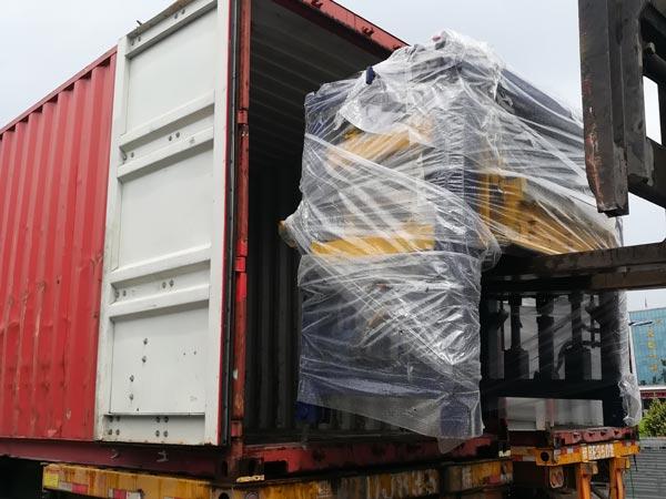 shipment of ABM-8S concrete bricks machine