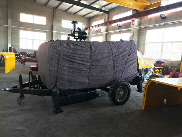 ABT60C diesel concrete pump in workshop