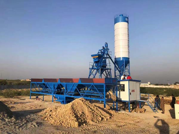 AJ-25 fully automatic concrete mixing plant