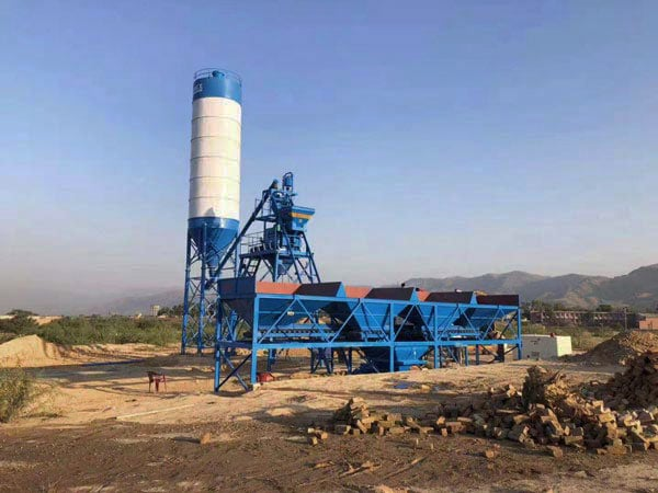 AJ-25 fully automatic concrete plant