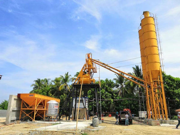 AJ-35 small automatic concrete batching plant