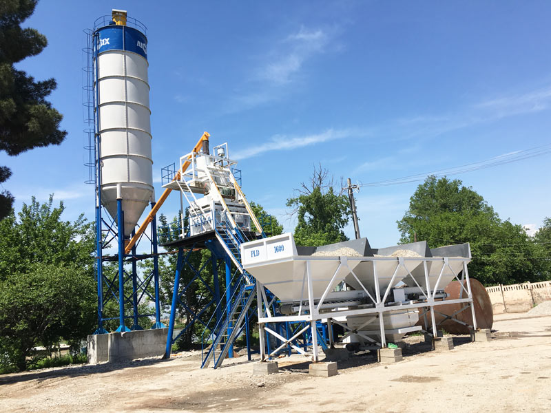 AJ-50 small automatic concrete plant