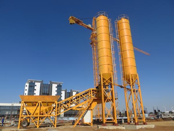 AJY-35 concrete plant mobile