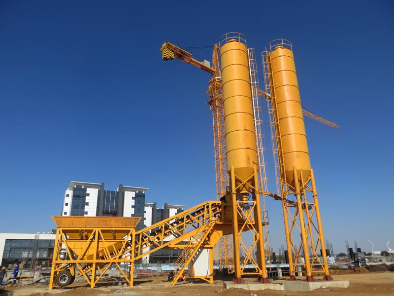 AJY-35 mobile automatic concrete plant
