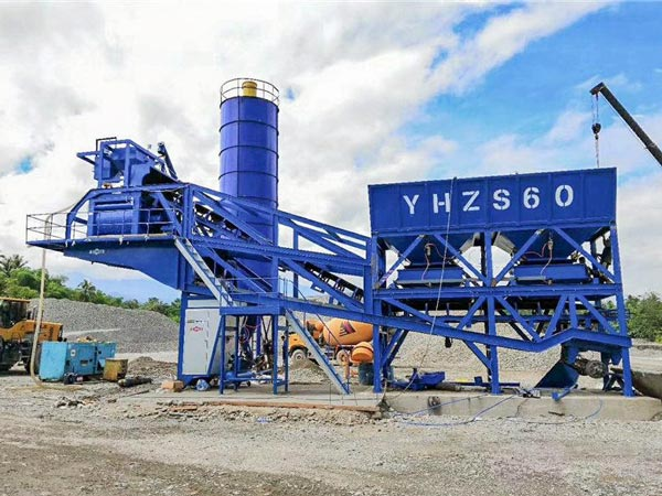 AJY-60 mobile concrete batch plant