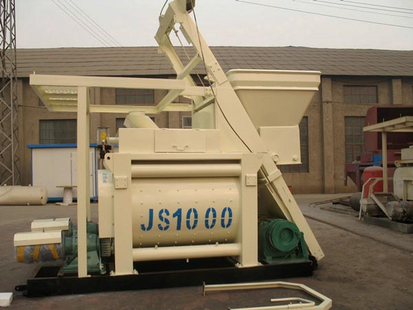 JS1000 twin shaft batch mixer