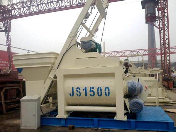 JS1500 twin shaft cement mixer
