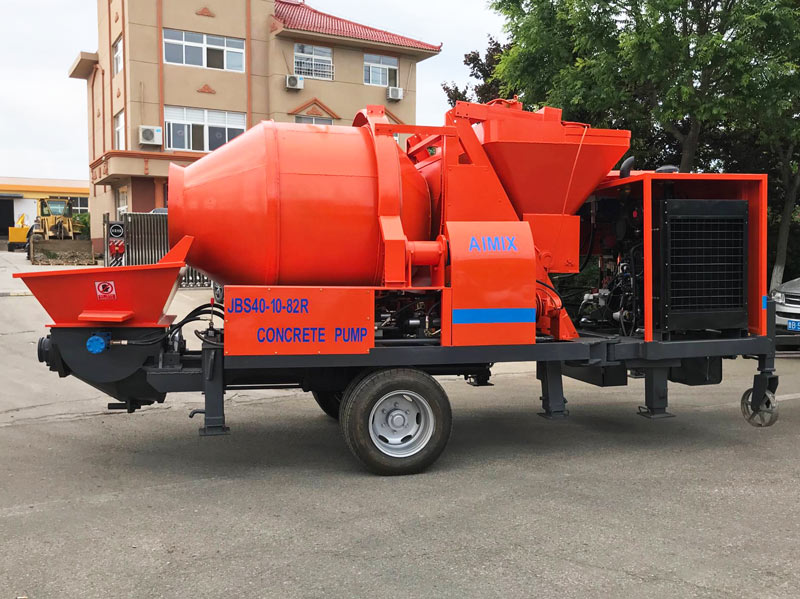 diesel cement mixer and pump