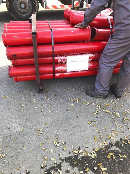 pipelines of concrete pump