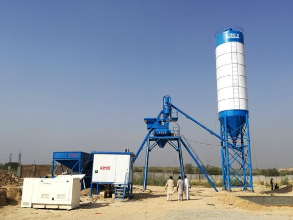 AJ-25 concrete batching plant in Pakistan