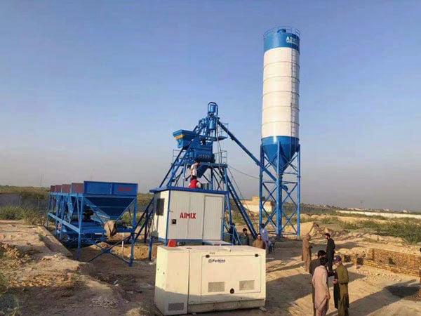 AJ-25 concrete mix plant Pakistan