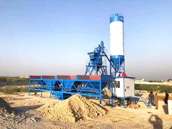 AJ-25 concrete mixing plant Pakistan
