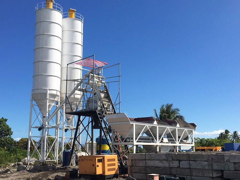 AJ-50 small concrete batching plant