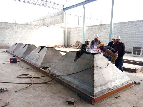 production of concrete machine
