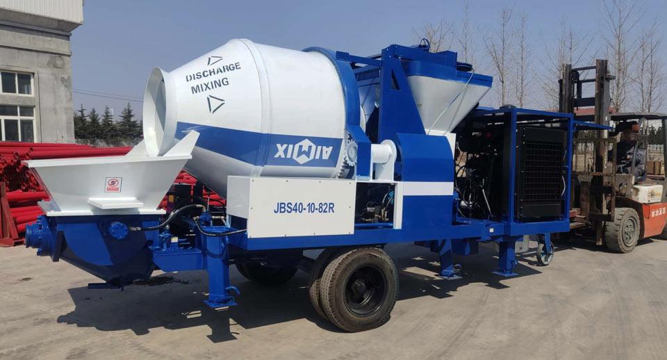 ABJZ40C small diesel cement mixer pump
