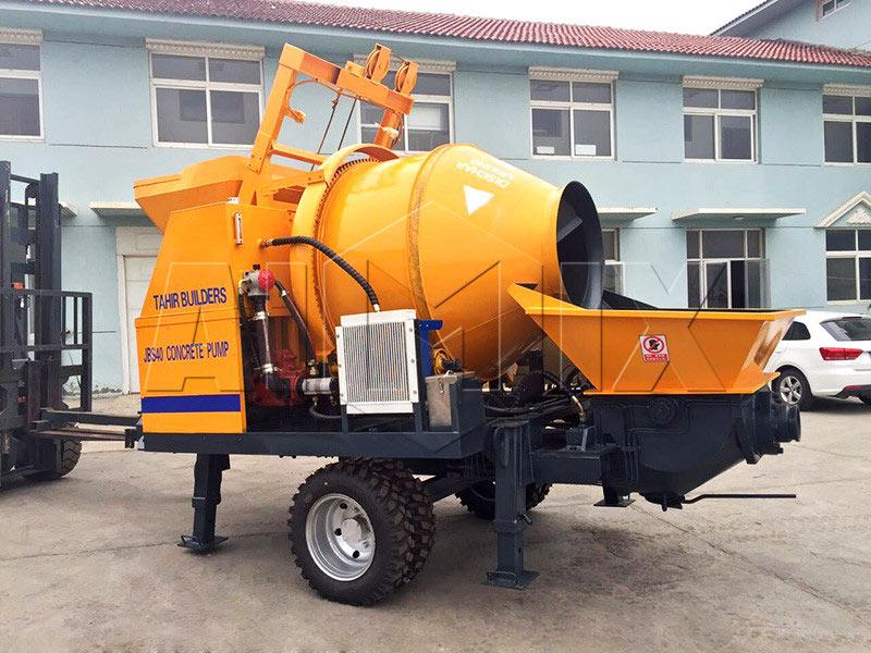 ABJZ40D electric concrete mixing pump Pakistan