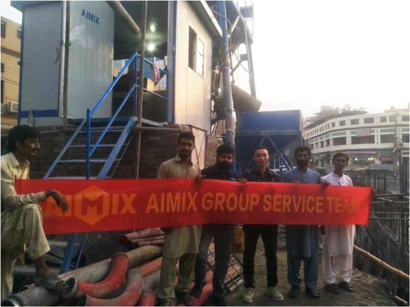 AJ-25 ready mix batching plant Pakistan