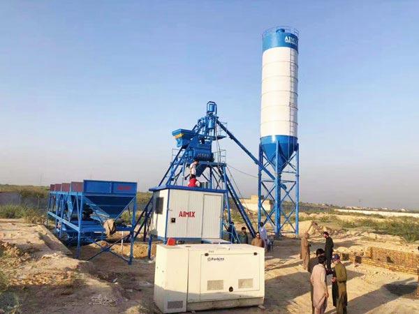 AJ-25 ready mix concrete batch plant