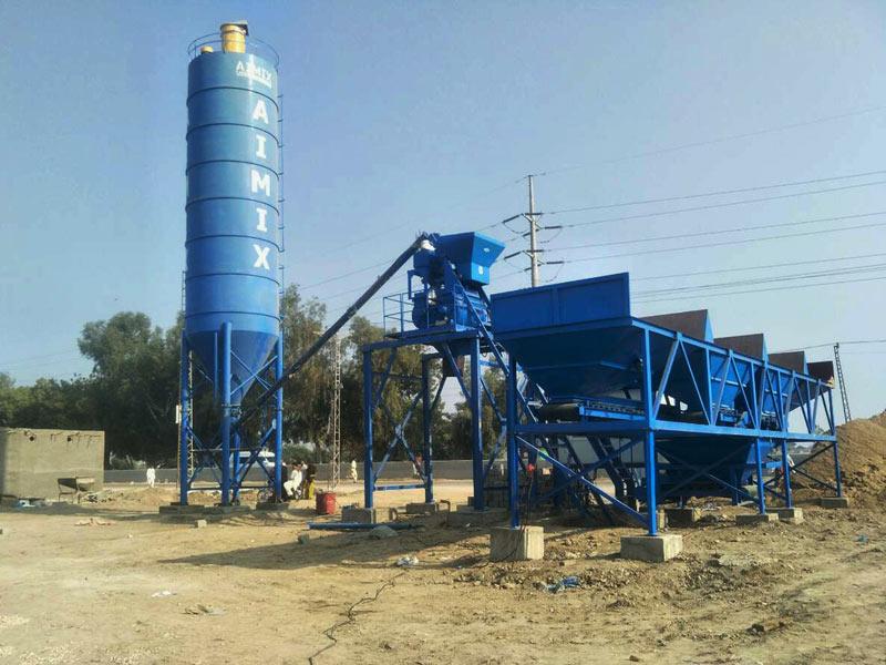AJ-25 readymix concrete batching plant Pakistan