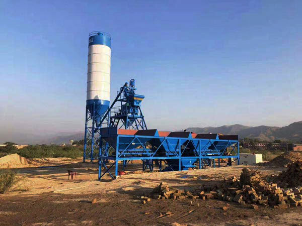 AJ-25 stationary concrete batch plant