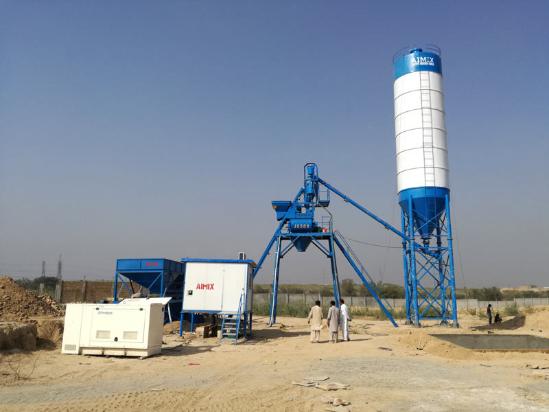 AJ-25 stationary concrete batching plant Pakistan