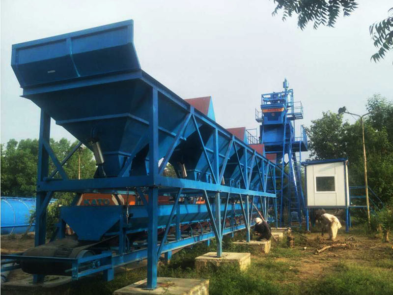 AJ-50 stationary concrete batch plant Pakistan