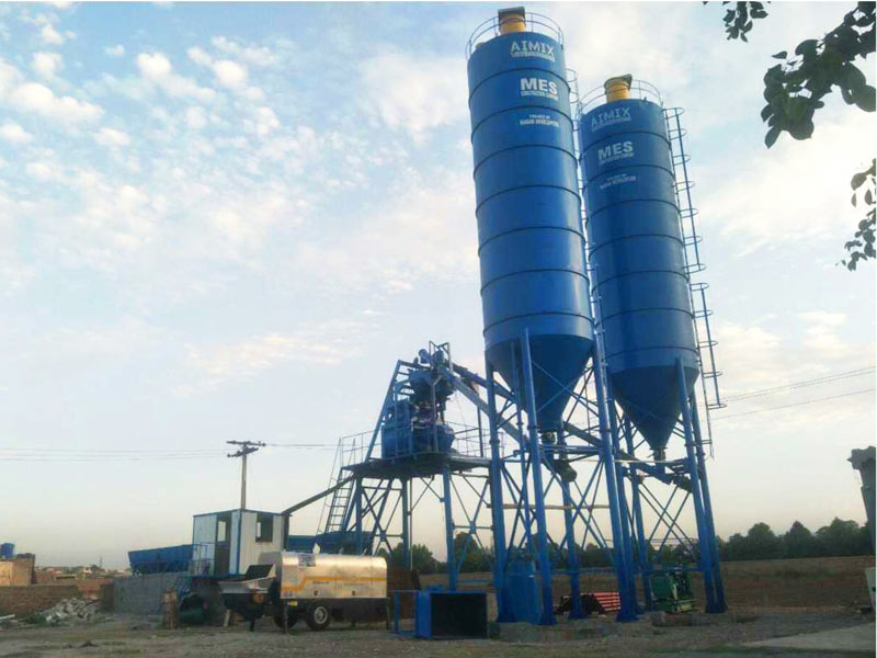 AJ-50 stationary concrete-batching-plant-Pakistan