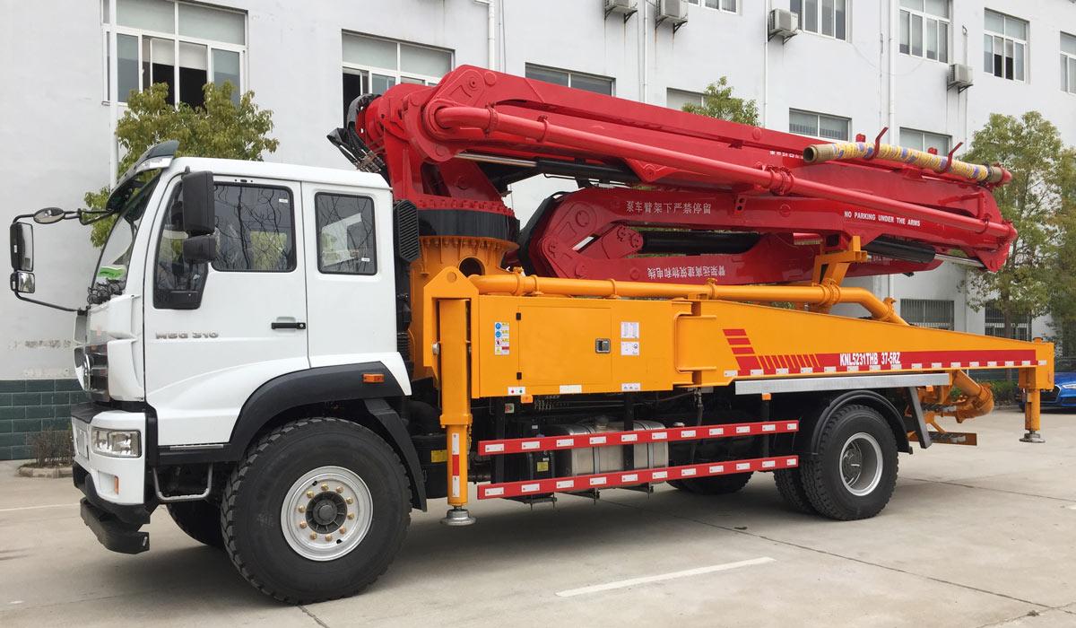 37m concrete boom pump truck