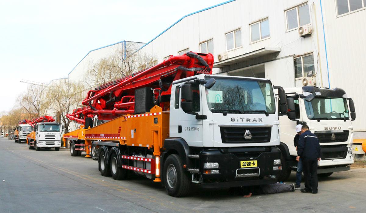 47m concrete boom truck