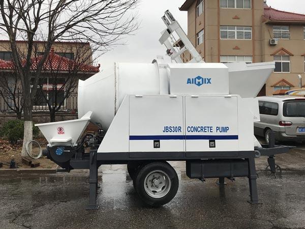 ABJZ30C diesel mobile concrete mixer pump