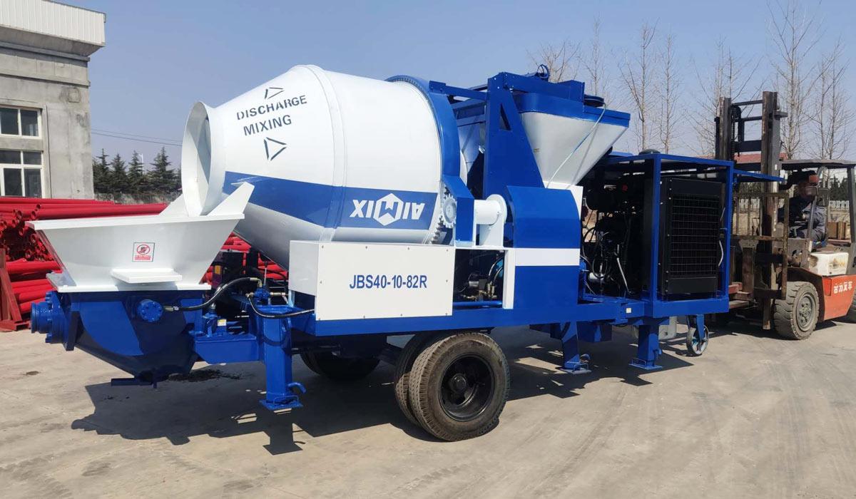 ABJZ40C mobile cement mixer pump Pakistan