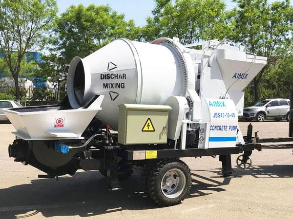 ABJZ40D electric mobile concrete mixing pump