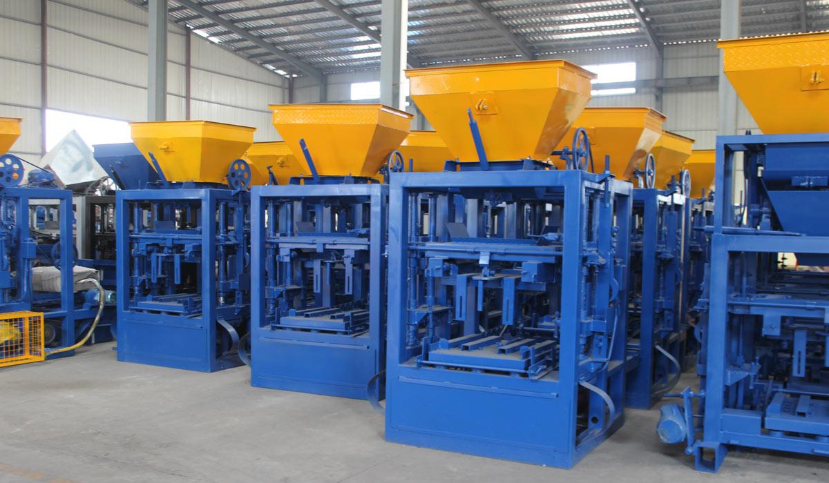 ABM-4SE semi automatic concrete block machine Pakistan