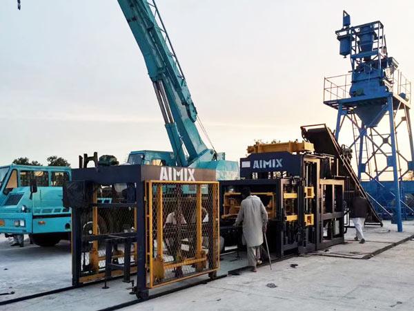 ABM-8S fully automatic cement block machine Pakistan