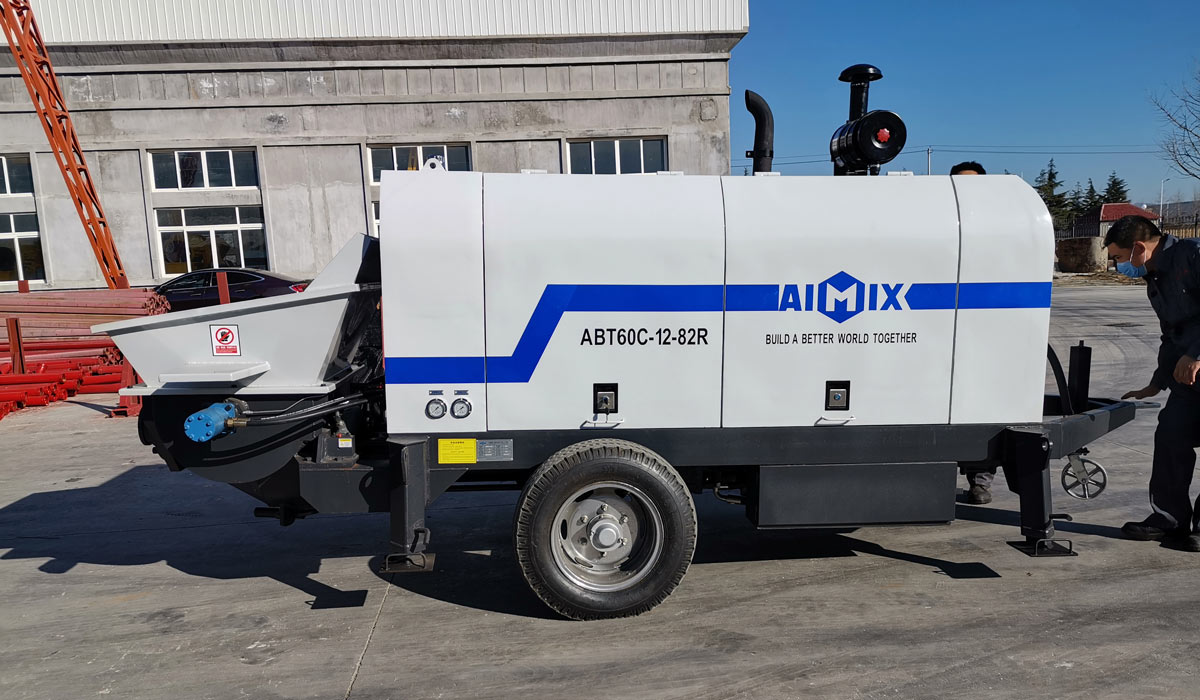 ABT60C concrete trailer pump diesel