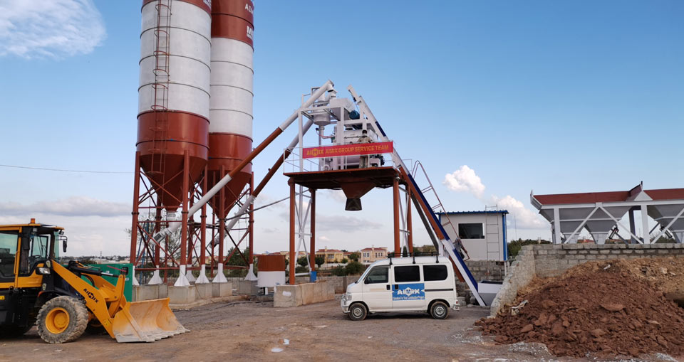 AJ-50 automatic concrete plant Pakistan