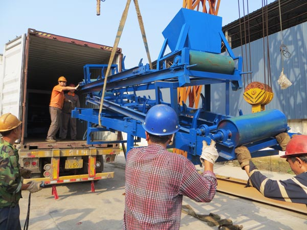 belt conveyor of hollow block machine