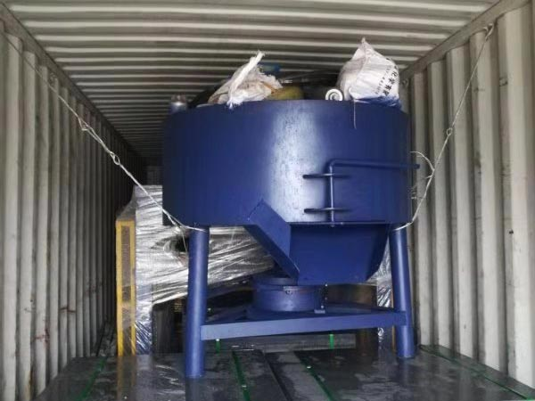 concrete pan mixer for ABM-4SE semi automatic brick machine