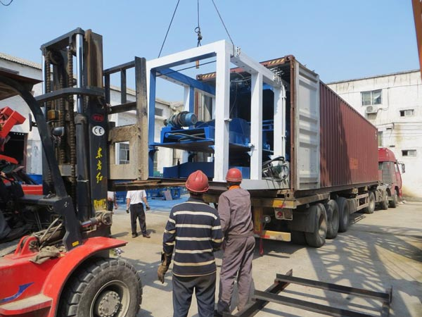 delivery of hollow block machine