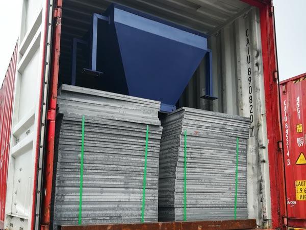 pallets of cement brick machine