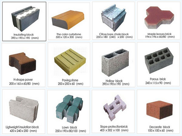 produce different finished bricks