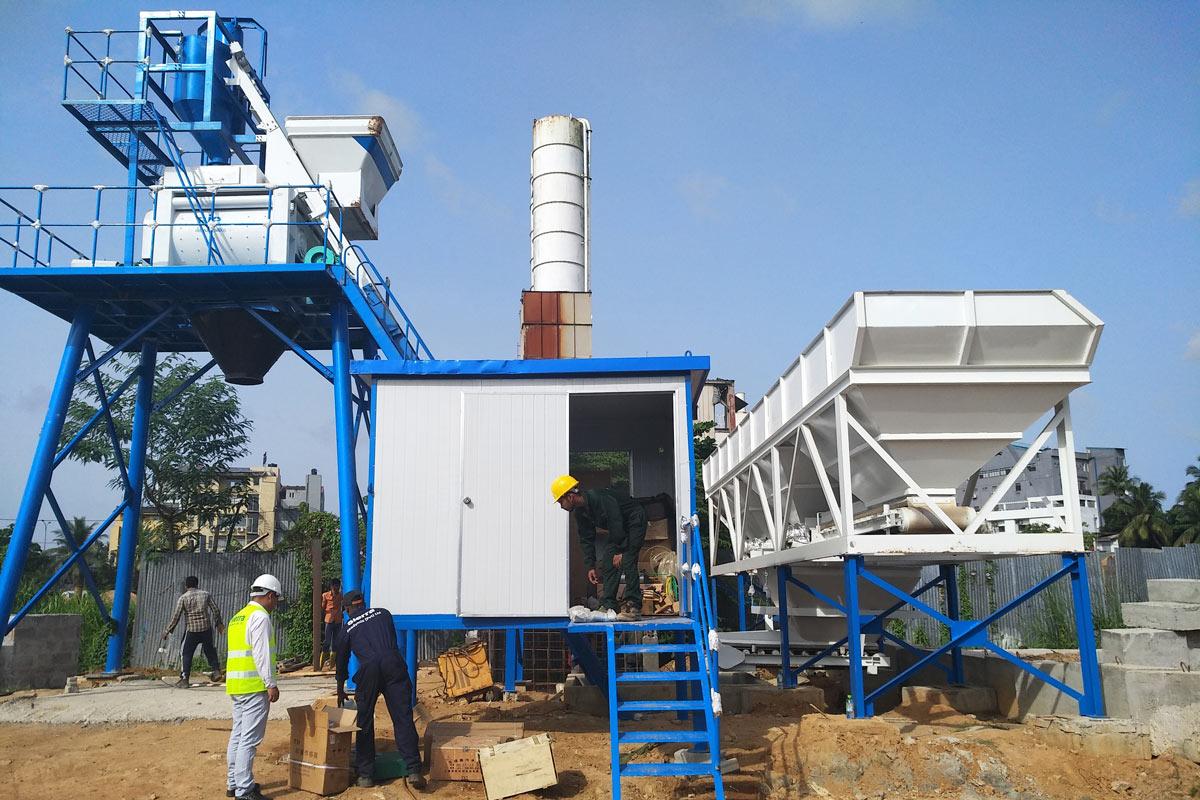 AJ-50 hopper type concrete mixing plant
