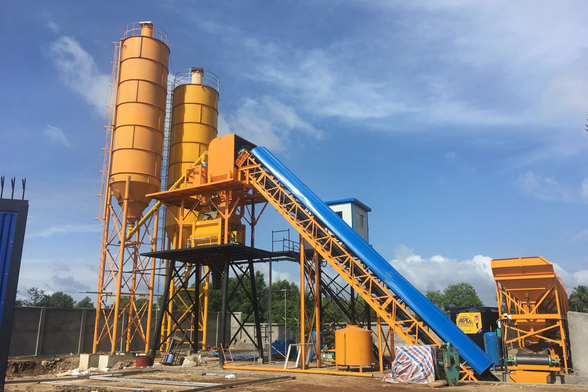 AJ-60 belt type concrete mixing plant
