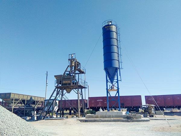 AJ-75 concrete mixer plant