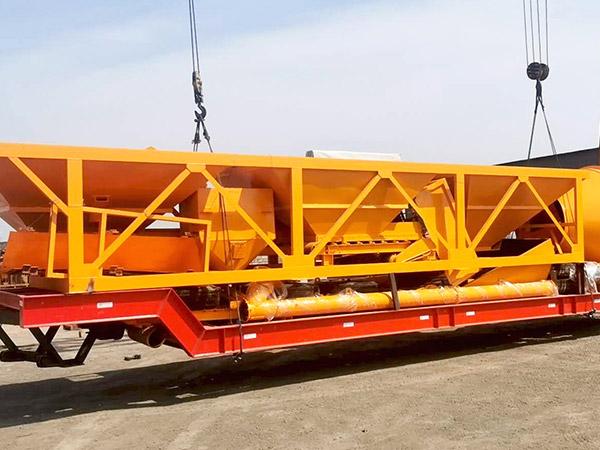 export portable concrete batch plant