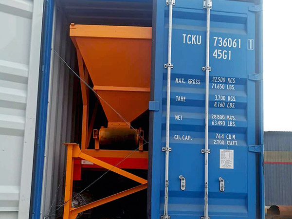 portable concrete batching plant shipment