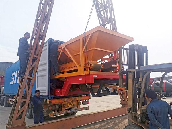 portable concrete plant shipment