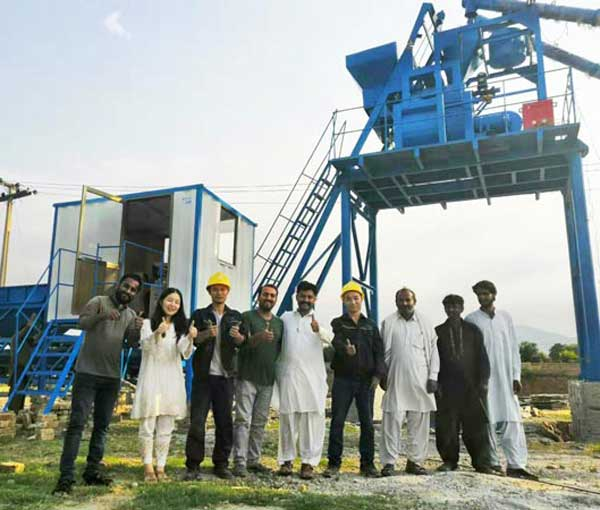 Installation of concrete mixing plant