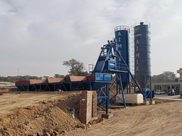 AJ-50 stationary concrete batch plant Pakistan