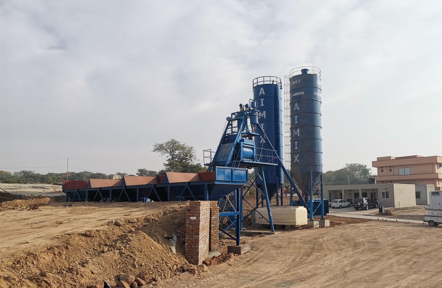 AJ-50 stationary concrete plant Pakistan